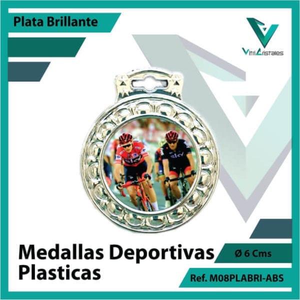 medallas para niños deportivas plasticas plata brillante ref m08plabri-abs