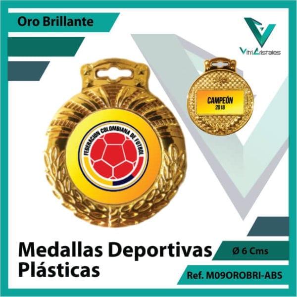 medallas para niños porta logo plasticas oro brillante ref m09orobri-abs