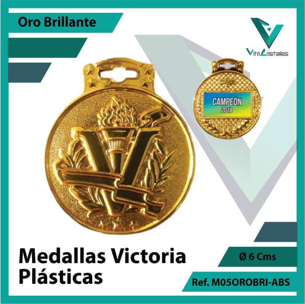 medallas victoria plasticas oro brillante ref m05orobri-abs