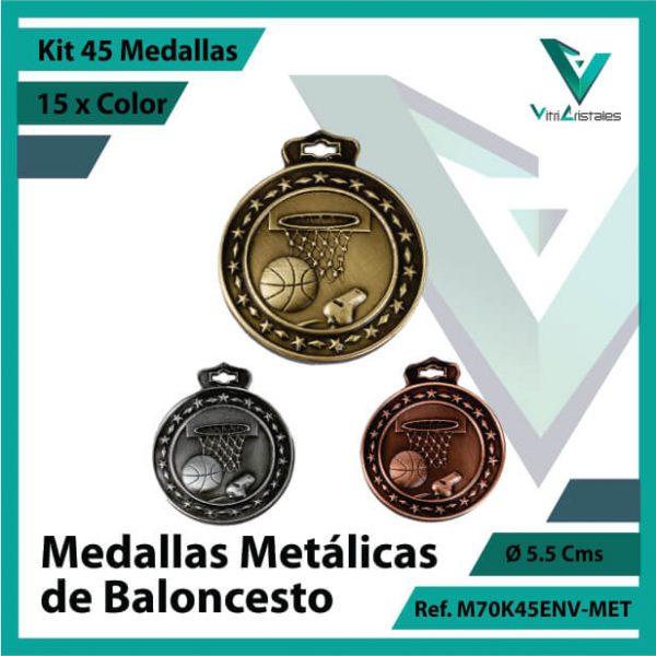 kit de medallas en bogota de baloncesto metalicas x 45 unidades ref m70k45env-met
