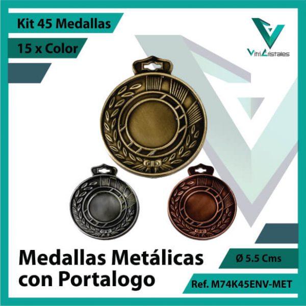 kit de medallas en bogota metalicas con portalogo x 45 unidades ref m74k45env-met