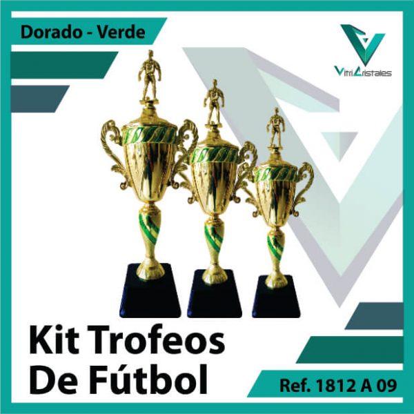Kit Trofeos de futbol campeon, subcampeon y tercer puesto Ref. 1812A09K123ORV para entrega en Bogotá, Medellin, Cali o para envio a todo el pais